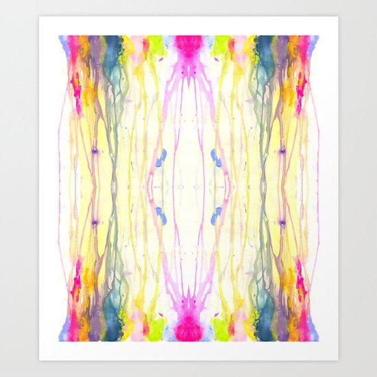 Melt Colors Series: Rain Art Print