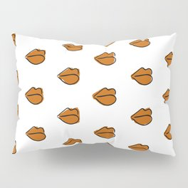 Orange Lippies Pillow Sham