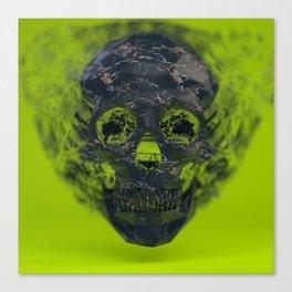 Skull Explotion Canvas Print