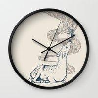 huebucket Wall Clocks featuring Pacifier by Huebucket