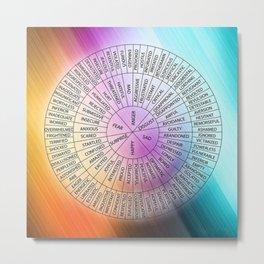 Wheel Of Emotions Metal Print