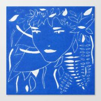 fern Canvas Prints featuring FERN by Andrea Jean Clausen - andreajeanco
