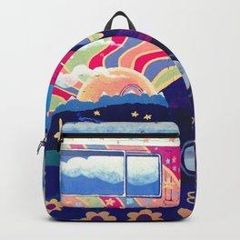 Hippie Camper Van Backpack