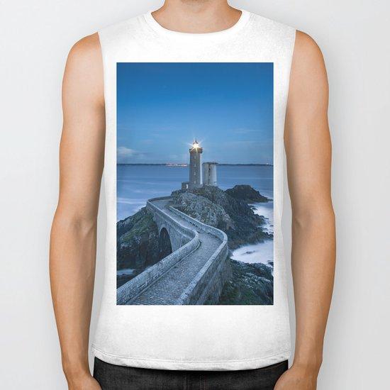 Lighthouse blue Biker Tank