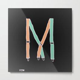 Suspenders Metal Print