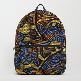 Yellow and Green Face Backpack