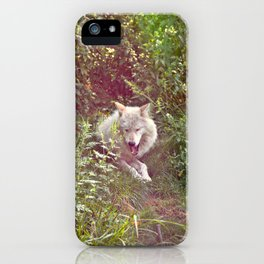 Wolf Relaxation iPhone Case