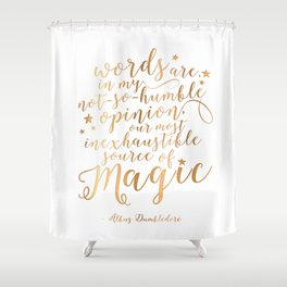 Dumbledore's Magic Words Shower Curtain