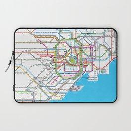 Tokyo Subway map Laptop Sleeve