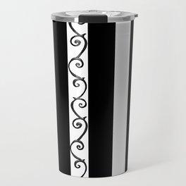 Stripes and Thorny Vines by Dark Decors - Black and Whites Travel Mug