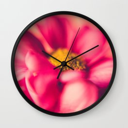 Flower Power (Hot pink) Wall Clock
