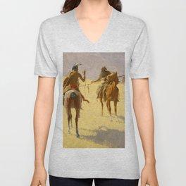 "Frederic Remington Western Art ""The Parley"" Unisex V-Neck"