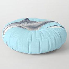 Blue Bottlenose dolphin Floor Pillow