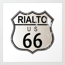 Rialto Route 66 Art Print
