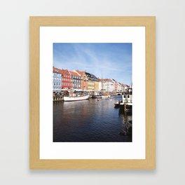 Colorful Nyhavn Canal, Copenhagen (Portrait) Framed Art Print