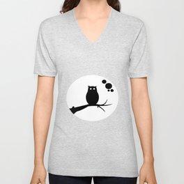 the owl awake Unisex V-Neck