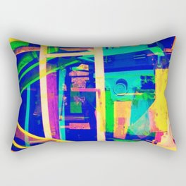 Industrial Abstract Blue Rectangular Pillow