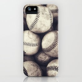 Bucket of Baseballs iPhone Case