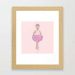 Ballerina Word Art Framed Art Print