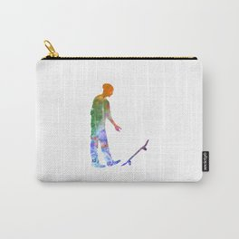 Man skateboard 09 in watercolor Carry-All Pouch