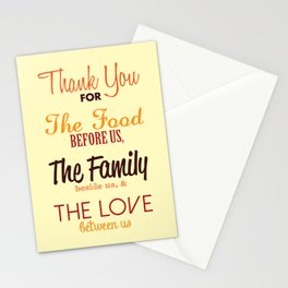 Thanksgiving Grace | Fall Colors Stationery Cards