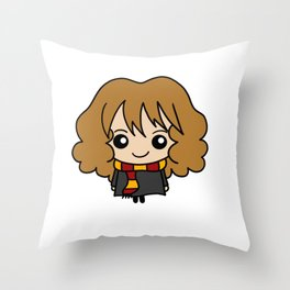 Wizard Witch Magic Hermione Scarf Daughter Gift Throw Pillow