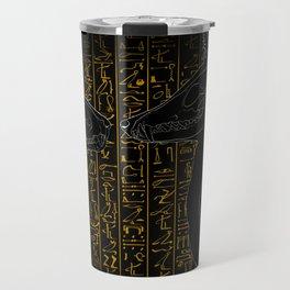 Sacred Anubis & Bastet Travel Mug