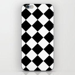 Diamond Black & White iPhone Skin
