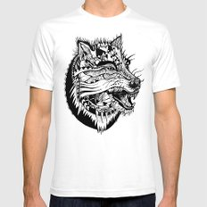 Ferocious Beauty White SMALL Mens Fitted Tee
