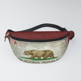 California Republic state flag Vintage Fanny Pack