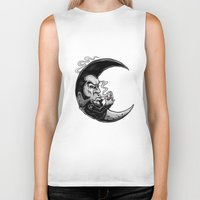 rockabilly Biker Tanks featuring Rockabilly moon by Kabay