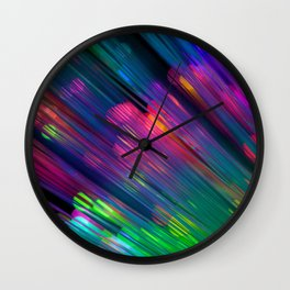 Rainbow Forest Wall Clock