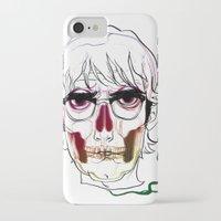 calavera iPhone & iPod Cases featuring Calavera by Nuria R. Artuñedo