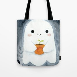 Ghost and plant Tote Bag