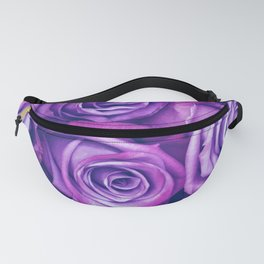 Purple Gothic Roses, Luxurious and Chic Fanny Pack