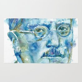 CARL JUNG - watercolor portrait Rug