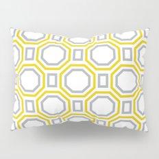 Polygonal pattern - Golden Yellow and Gray Pillow Sham