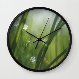 The texture of early morning Wall Clock