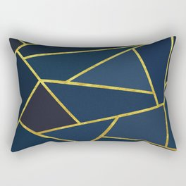 The Color of Navy And Gold Rectangular Pillow