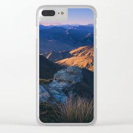 Coronet Peak, Otago, New Zealand Clear iPhone Case