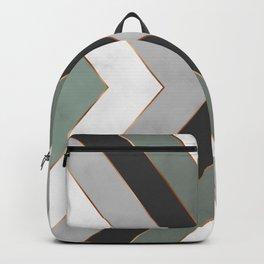 minimal geometrical marble art Backpack