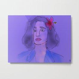 Lady in pink Metal Print