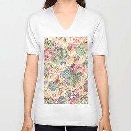 Flower Abstraction Unisex V-Neck
