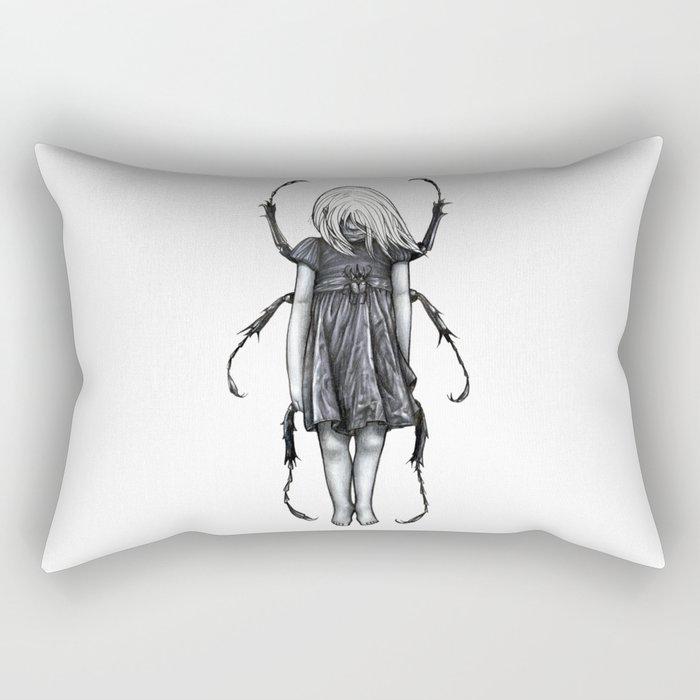 Beetlegirl Rectangular Pillow