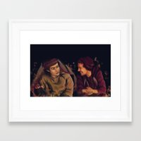 larry stylinson Framed Art Prints featuring Larry Stylinson - This is Us Campfire by Aki-anyway