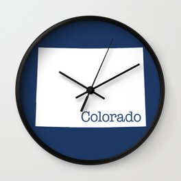 Colorado State in 2020 Navy blue Wall Clock