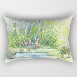 Mushroom Mushroom Bunny Rectangular Pillow