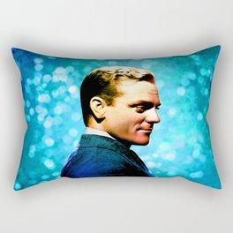 James Cagney, blue screen Rectangular Pillow