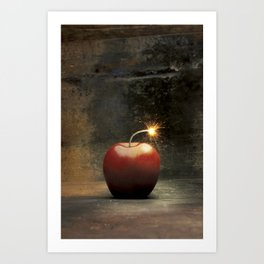 Apple bomb Art Print