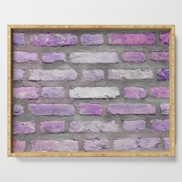 Venetian Bricks in Pink and Lavender Serving Tray